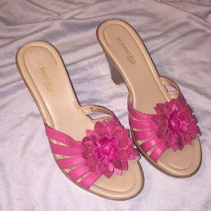 St. John's bay floral wedge sandal